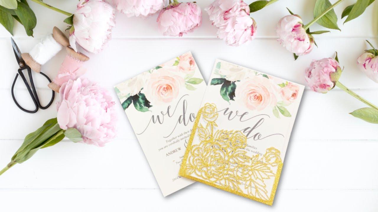 Diy Wedding Invitations With Cricut Print Then Cut Youtube