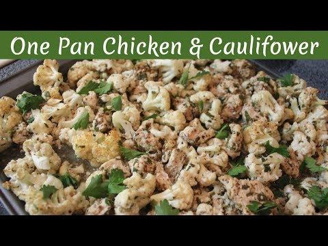 One Pan Roasted Chicken Breast & Cauliflower Recipe: Healthy Dinner Recipes