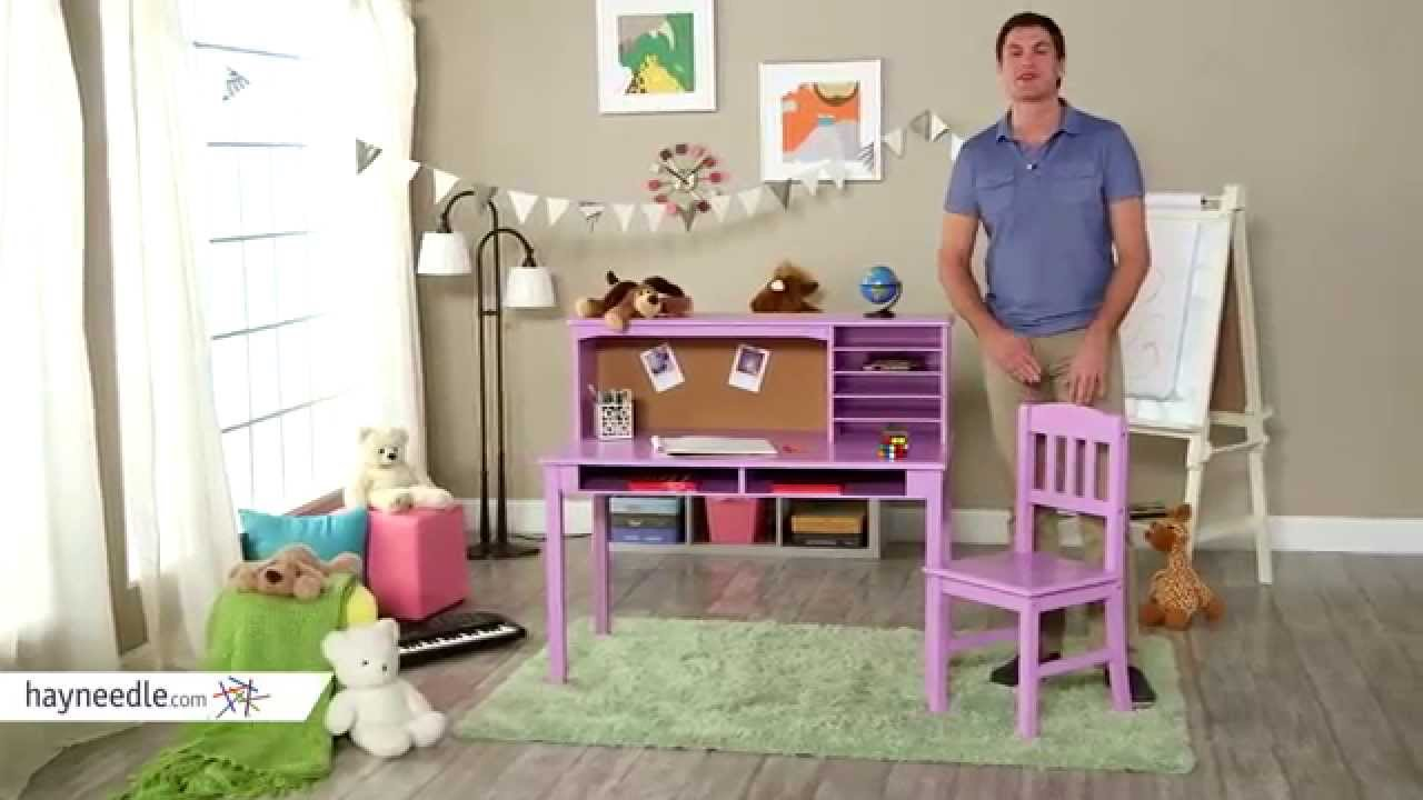 Guidecraft Media Desk & Chair Set - Lavendar - Product Review Video ...