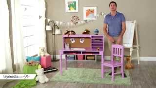 Guidecraft Media Desk & Chair Set - Lavendar - Product Review Video