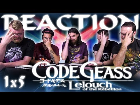 "Code Geass 1x5 REACTION!! ""The Princess and the Witch"""