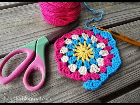 Episode 82 How To Crochet A Granny Hexagon Youtube