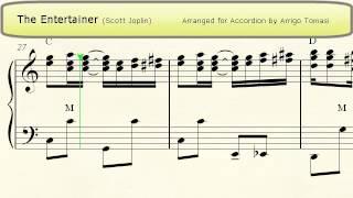 The Entertainer (Scott Joplin) - Accordion Sheet Music Resimi