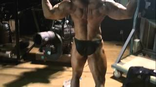 Bodybuilding muscle pose - 근육 자세 연습