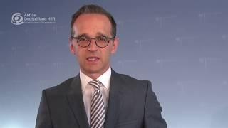 Kuratoriumsvorsitzender Heiko Maas über Aktion Deutschland Hilft