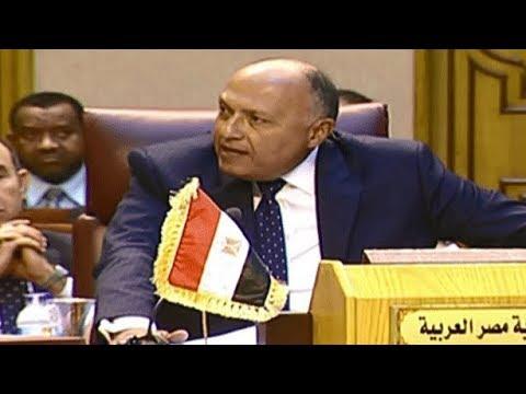 أعمال الدورة الـ148 لمجلس الجامعة العربية على مستوى وزراء الخارجية واعتراض مصري على المسئول القطري