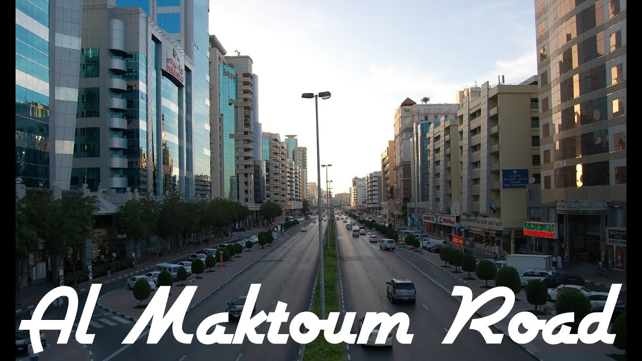 al maktoum road video  deira  dubai  united arab emirates