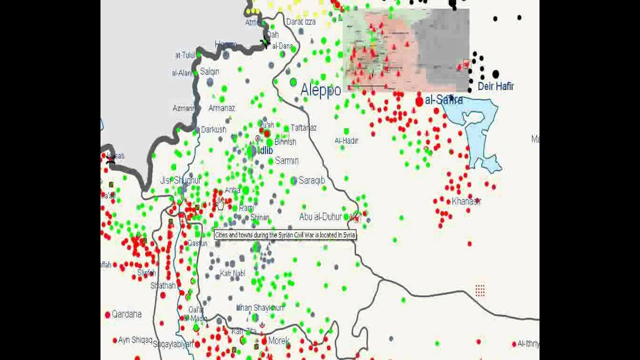 map of syrian civil war explained youtube