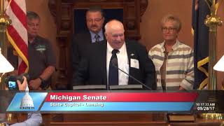 Sen. Kowall recognizes the Michigan State Fair at the Michigan Senate