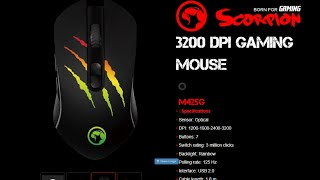 m425G 3200 DPI GAMING MOUSE from MARVO Http://www.marvo-tech.com