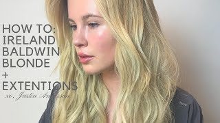 HOW TO: MAKING IRELAND BASINGER-BALDWIN BLONDE + EXTENSIONS