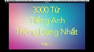 3000 Từ Tiếng Anh Giao Tiếp Thông Dụng - Phần 1