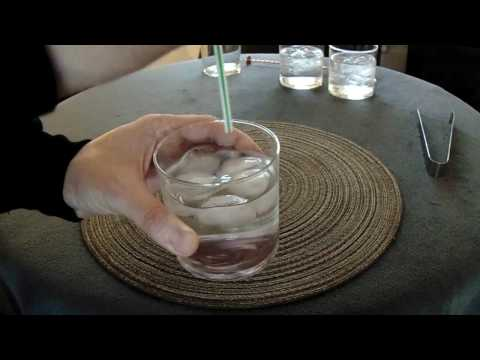 ASMR Ice cubes tinkling. Pouring glasses of water and making drinks. Liquid sounds. No talking.