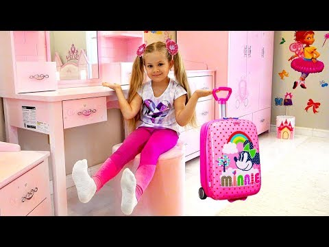 Diana and her new Room - Head, Shoulders, Knees & Toes Song For Kids - Видео онлайн