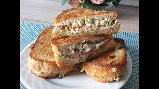 Очень вкусные горячие бутерброды / Вкусный сэндвич на сковороде  / Простые рецепты