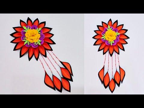 DIY PAPER WALL HANGING IDEA | HIASAN DINDING KERTAS SUPER CANTIK | ROOM DECOR