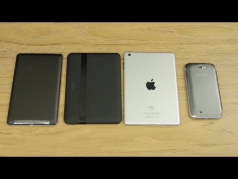 iPad Mini (Dummy) Unboxing & Comparison vs Nexus 7, Kindle Fire HD & Galaxy Note 2!