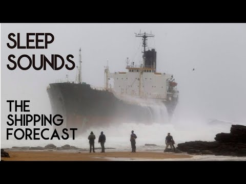 Sleep Sounds | Shipping Forecast compilation by the fire (male and female narration).