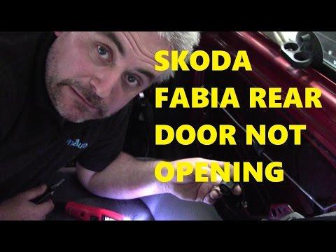 2003 Skoda Fabia Rear Door Not Opening