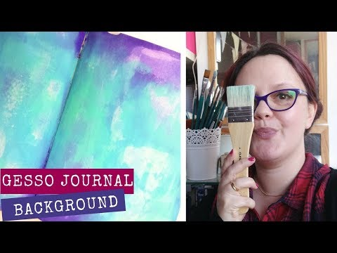 Art Journal Gesso | Art Journal Background Ideas