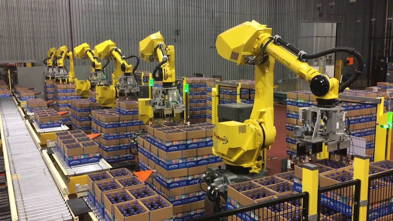 Automated Decasing System Uses Six Fanuc Robots To Decase