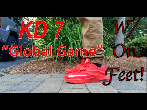 best service cab83 04d21 Nike KD 7 Global Game Review + On Feet