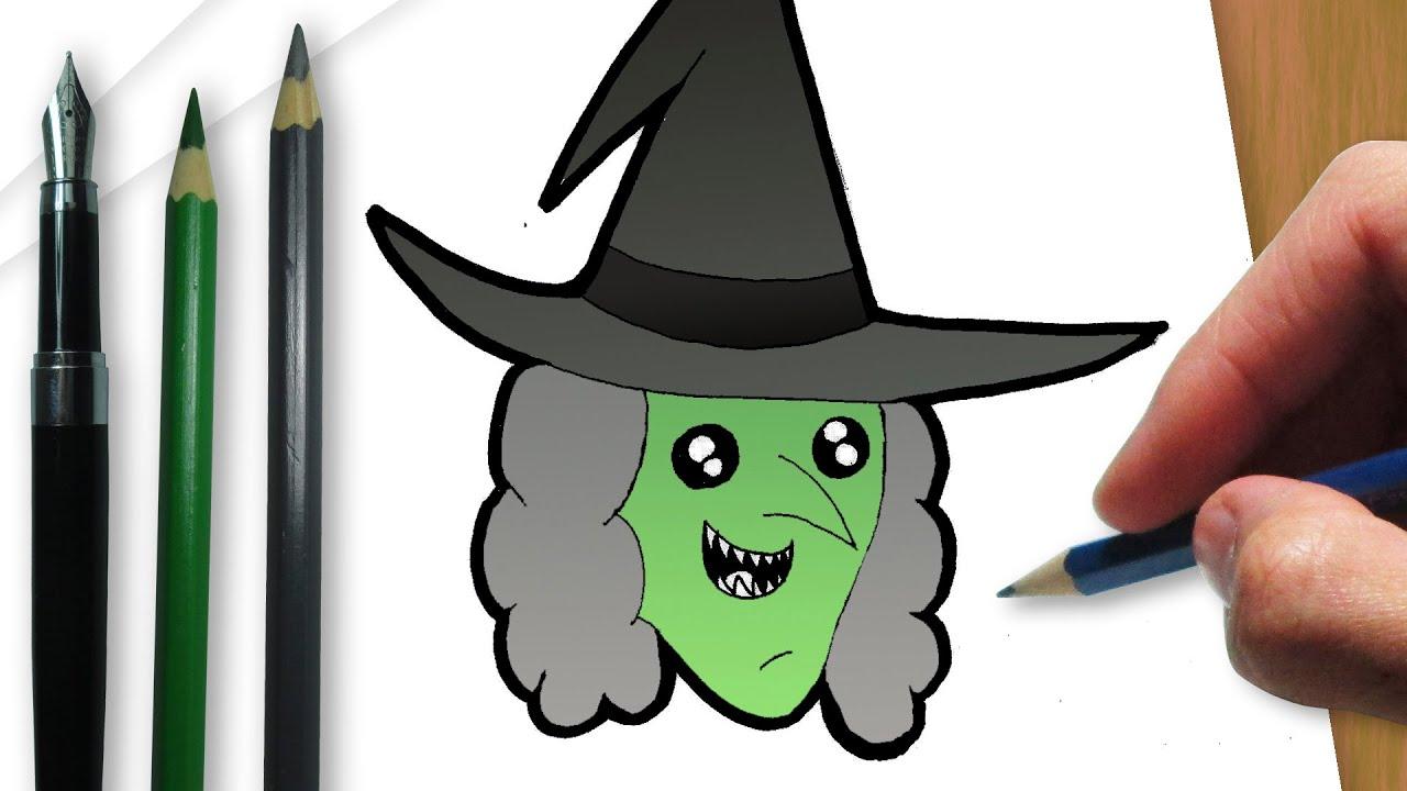 como desenhar uma bruxa de halloween youtube