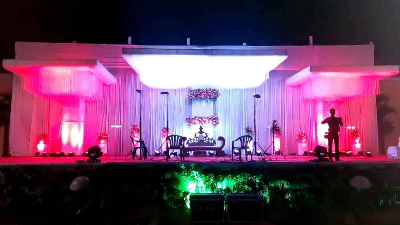 Wedding Stage Decoration Lighting Wedding Planners Pune