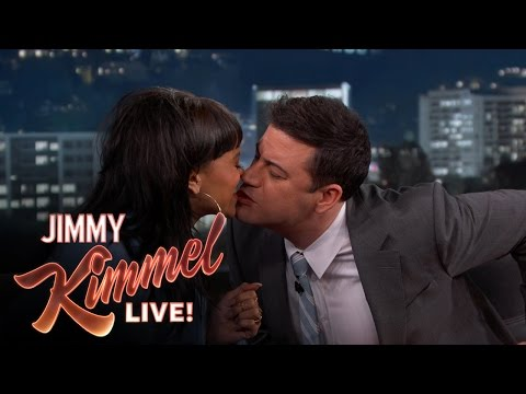 Jimmy Kimmel and Rihanna take the Twizzler Challenge for Autism Awareness Month