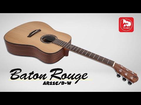 BATON ROUGE AR11C/D-W - Доступная акустическая гитара с широким грифом