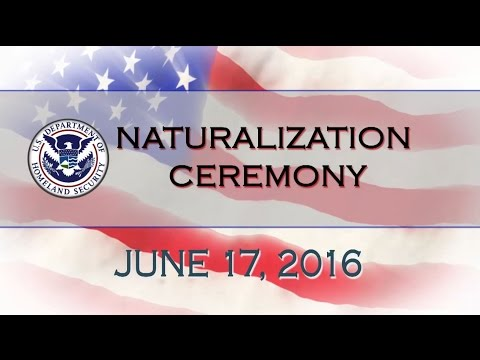 US Citizenship & Immigration Services Naturalization Ceremony at World Refugee Day - 6/17/16