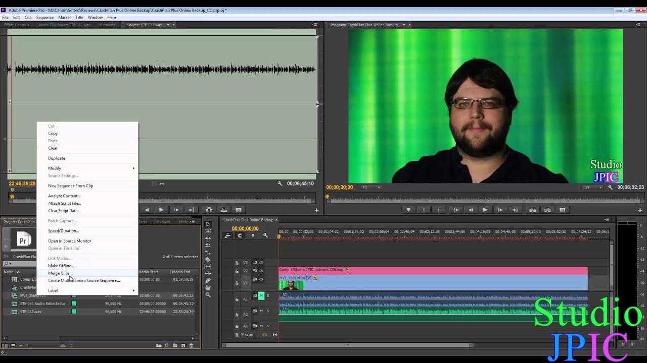 manually synchronize audio and video files in adobe premiere pro cc rh youtube com adobe premiere manuel adobe premiere manuel