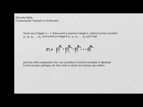 Discrete Math - Fundamental Theorem of Arithmetic