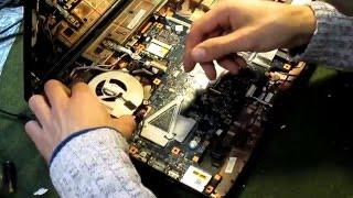 Ремонт ноутбука Toshiba в Одессе, замена видеочипа(Ремонт ноутбуков в Одессе, http://itprofi.in.ua/remont-notebook-odessa.html Заявленная неисправность:нет изображения. Что делал..., 2016-01-22T15:51:33.000Z)