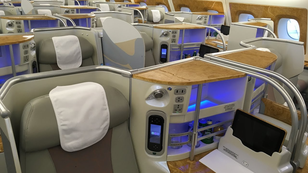 EMIRATES BUSINESS CLASS | BANGKOK - DUBAI | AIRBUS A380 ...