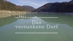 Fall im Sylvensteinsee - Luftaufnahme Sylvensteinspeicher Dezember 2015