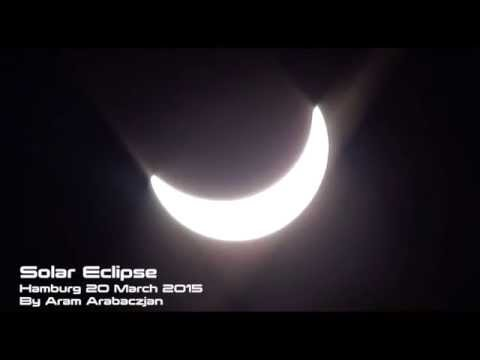 Life: Solar Eclipse visible in Hamburg (Germany) 2015 March 20 - Sonnenfinsternis Deutschland