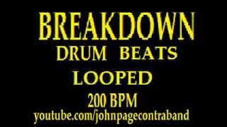 BREAKDOWN DRUM LOOPS TRACK 200 BPM