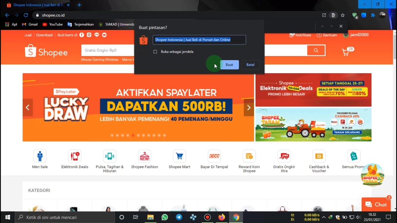 Shopee Dekstop | Cara Download dan Instal Shopee Di Laptop atau PC