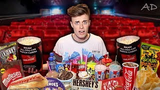 Buying EVERYTHING from the Cinema Menu!! **20,000 calories**