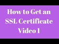 How to get an SSL Certificate for your Wordpress Site SECURITY
