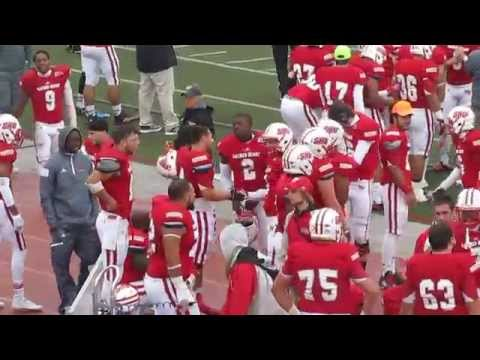 Robert Morris vs Sacred Heart Football - Trick Play - Double Wide Receiver Reverse Touchdown