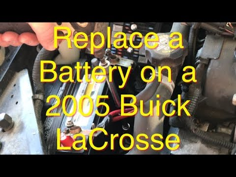 How to Replace a Battery on a 2005 Buick LaCrosse