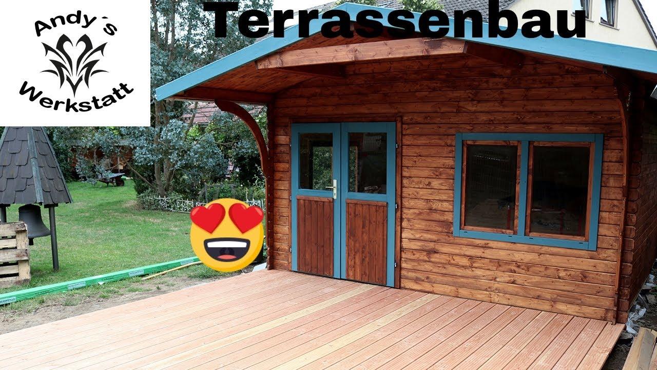 Terrassenbau Teil 2 Terrassendielen Verlegen Douglasie Dielen