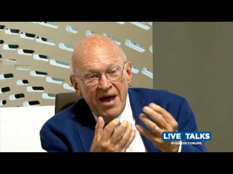 Ken Blanchard with Keith Ferrazzi at Live Talks LA Business Forum