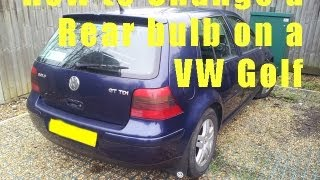 VW Golf Rear Light Bulb Change