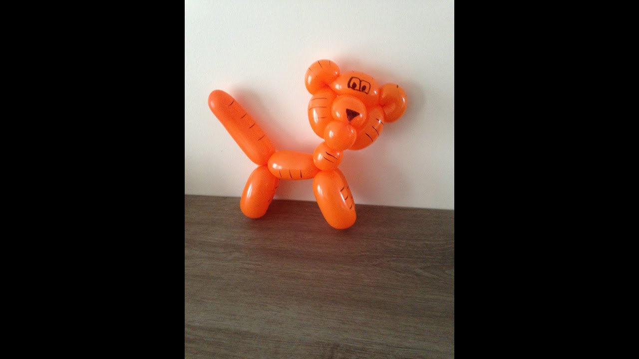 tuto sculpture de ballon le tigre youtube. Black Bedroom Furniture Sets. Home Design Ideas