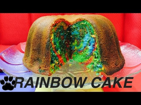 how-to-bake-rainbow-surprise-dog-cake---birthday-pup-cake-diy-by-cooking-for-dogs