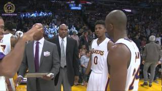 Kobe to Lin : get the fuck out the way. 3 pt, don