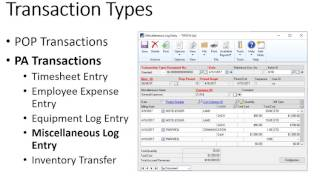 MS Dynamics GP Project Accounting Overview